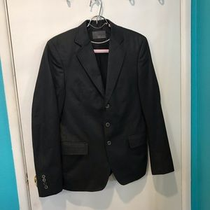 Zara man blazer jacket black with tiny stripes